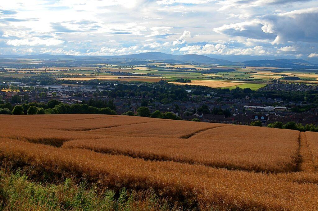 Landscape,Over,The,City.,Forfar,,Scotland,-,July,31,,2017